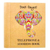 Rainbow Elephant Telephone and Address Book