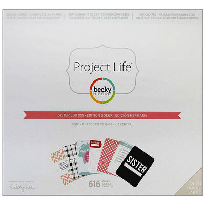 American Crafts: Project Life Missionery Sister 616 Piece Card Kit image number 1