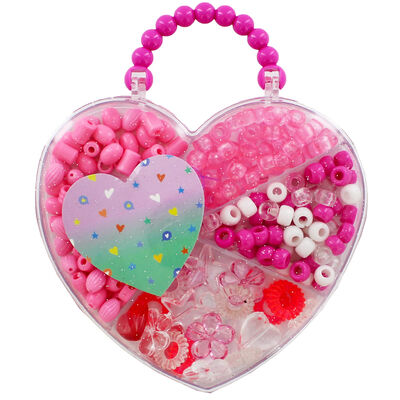 Heart Bead Jewellery Set - Assorted image number 1