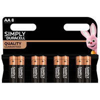 Duracell Simply AA Batteries - Pack of 8