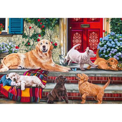 Dog Family 500 Piece Jigsaw Puzzle image number 2