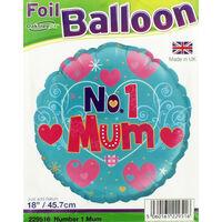 18 Inch No 1 Mum Foil Helium Balloon