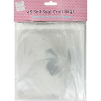45 Self Seal Craft Bags - 6 x 6 Inches