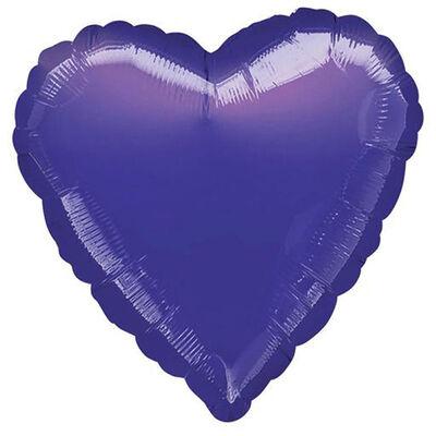 18 Inch Purple Heart Helium Balloon image number 1