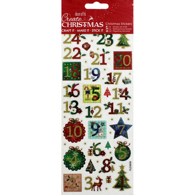 XMA20 Stickers Holly Advent Nu image number 1
