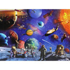 Space Explorers 100 Piece Glowing Jigsaw Puzzle image number 2