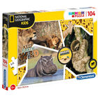 National Geographic Wildlife 104 Piece Jigsaw Puzzle image number 1