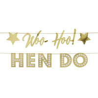 Gold Hen Do Foil Bunting