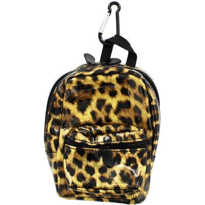 Gold Leopard Print Mini Backpack image number 1