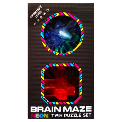 Neon Brain Maze Twin Puzzle Set - Assorted image number 3
