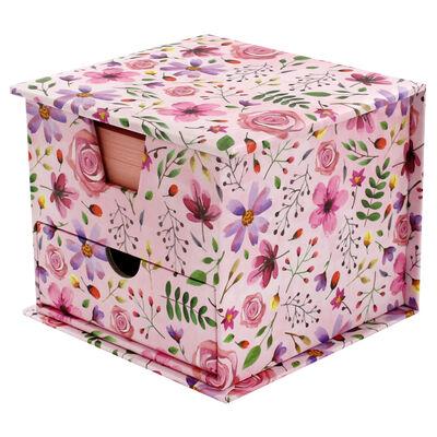 Pink Floral Memo Cube image number 2