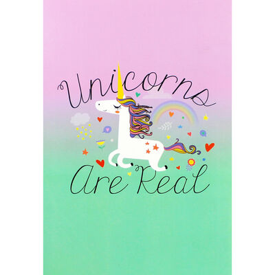 A5 Soft Cover Unicorns Plain Notebook image number 1