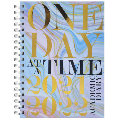 A5 One Day 2021-2022 Day a Page Diary image number 1