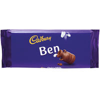 Cadbury Dairy Milk Chocolate Bar 110g - Ben
