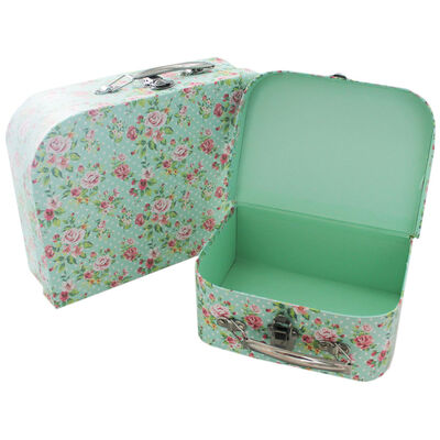 Rose Print Storage Suitcases - Set Of 3 image number 3