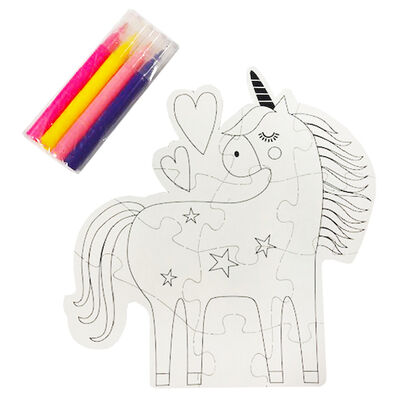 Colour Your Own Unicorn Puzzle image number 2