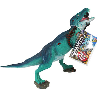 Turquoise Tyrannosaurus Rex Dinosaur Figurine image number 1