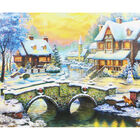 Stone Bridge To The Winter Estate 1000 Piece Jigsaw Puzzle image number 2
