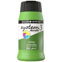 System 3 Acrylic Paint: Leaf Green 500ml