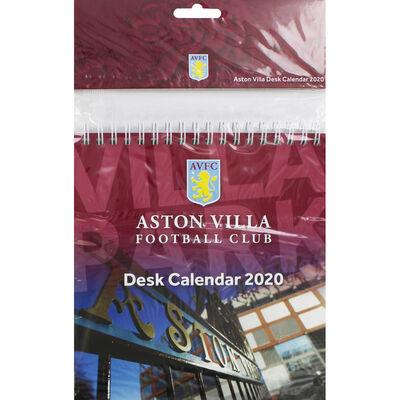 Aston Villa Football Club Desk Calendar 2020 image number 1