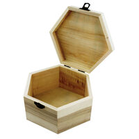 Large Hexagonal Wooden Box