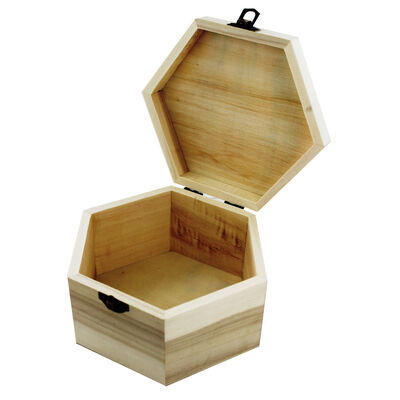 Large Hexagonal Wooden Box image number 2