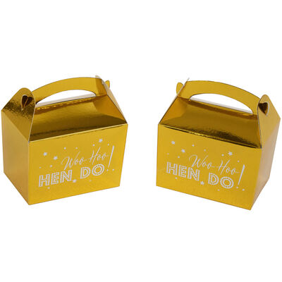 Gold Hen Do Mini Favour Boxes - 10 Pack image number 2