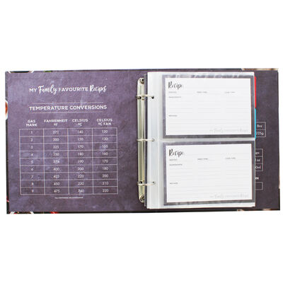 My Family Favourite Recipes Ring Binder Recipe Journal image number 2