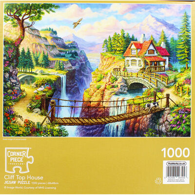 Cliff Top House 1000 Piece Jigsaw Puzzle image number 4