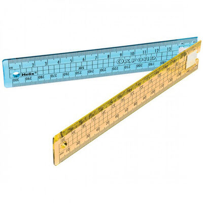 Helix Oxford Clash Blue 30cm Folding Ruler image number 2