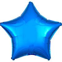 18 Inch Blue Star Helium Balloon