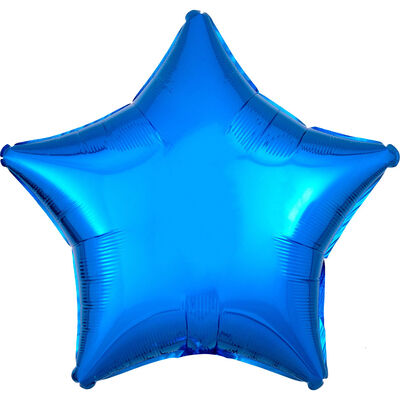 18 Inch Blue Star Helium Balloon image number 1