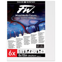 """Mixed Media Canvases 8"""" x 10"""": Pack of 6"""