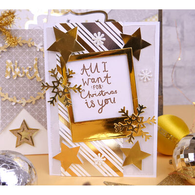 White Christmas Premium Paper Pad - 8x8 Inch image number 2
