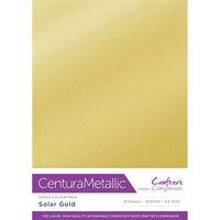 Centura Metallic A4 Solar Gold Card - 10 Sheet Pack
