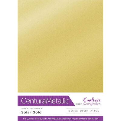 Centura Metallic A4 Solar Gold Card - 10 Sheet Pack image number 1