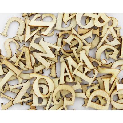 150 Wooden Letters - Natural image number 2