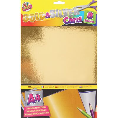 A4 Gold and Silver Card - 8 Pack image number 1