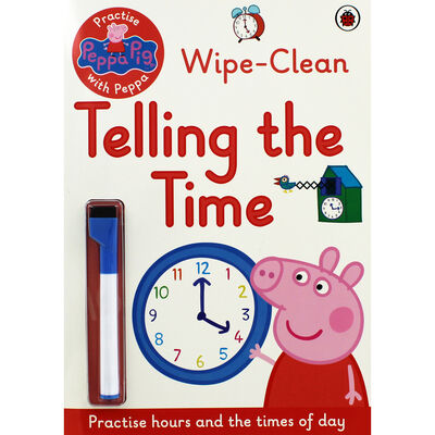 Peppa Pig Wipe-Clean: Telling the Time image number 1