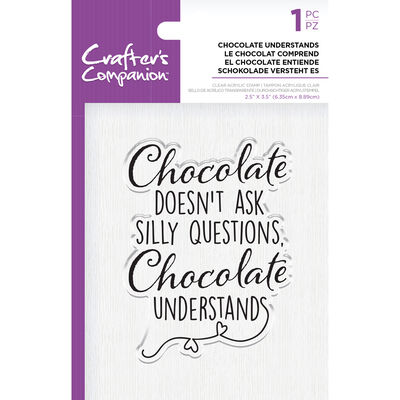 Crafters Companion Clear Acrylic Stamp - Chocolate Understands image number 1