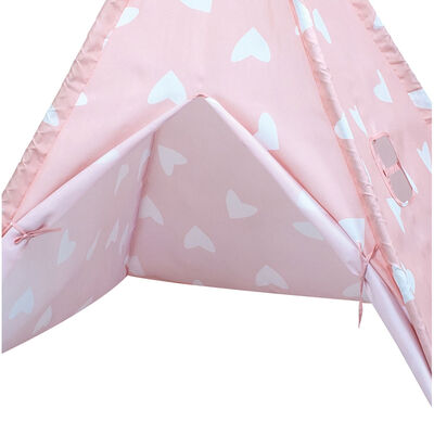Pink Hearts Teepee Tent image number 3