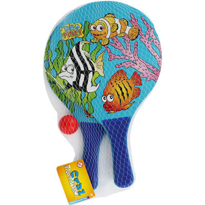 Wooden Beach Bat and Ball Set - Assorted image number 1
