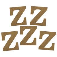 MDF Letter Z: Pack of 5