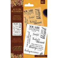 Autumn Blessings Collection Photopolymer Stamp: Thankful & Blessed