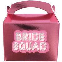 Pink Bride Squad Mini Favour Boxes - 10 Pack