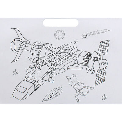 Spaceships Doodle Colouring Book image number 3