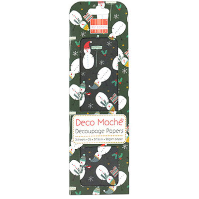 Snowman Decoupage Papers - 3 Sheets image number 1