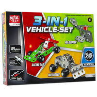 Metal Tech 3-in-1 Vehicle Set