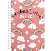 A6 Rainbow Week to View 2020-21 Academic Diary