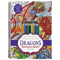 Dragons, Dinosaurs, Robots and More: Kaleidoscope Colouring